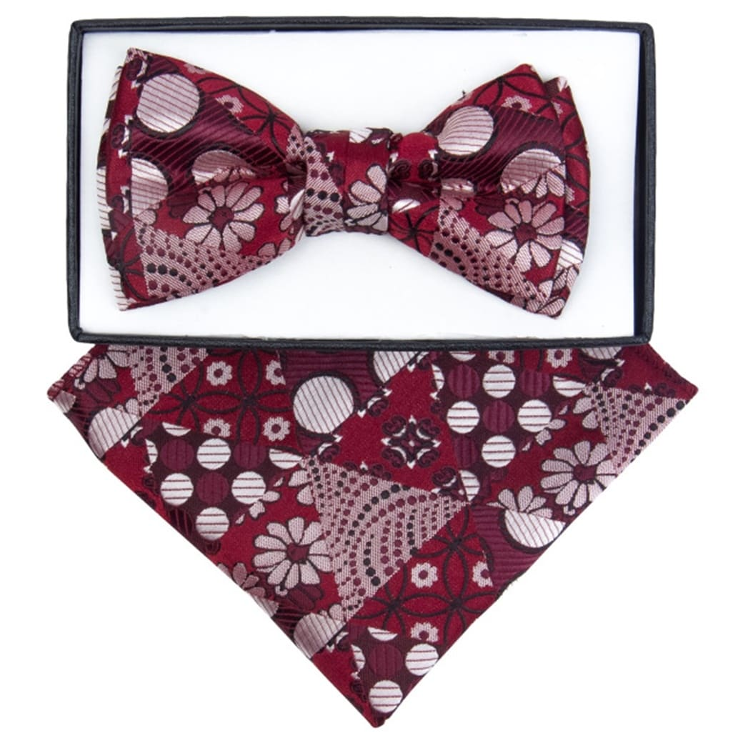 Kids Adjustable Pre Tied Bowtie Boys Formal Wedding Satin Bow Ties And Handkerchief Set