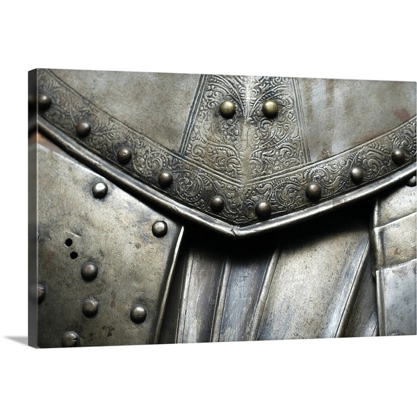 """""""Close-up of a suit of armor, Cannon Tower, Estonia"""" Canvas Wall Art"""