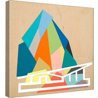 """PTM Images 9-97854  PTM Canvas Collection 12"""" x 12"""" - """"Palm Springs Home #2"""" Giclee Abstract Art Print on Canvas"""