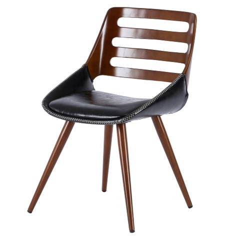 Shelton PU Leather Bamboo Chair