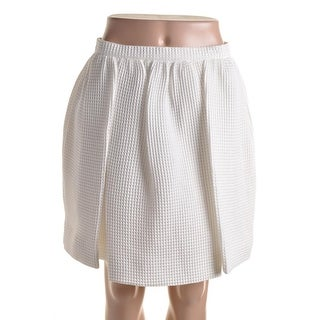 Mother of Pearl Womens Cooper Waffle Pleated A-Line Skirt - 8