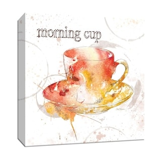 """PTM Images 9-147242  PTM Canvas Collection 12"""" x 12"""" - """"Morning Cup"""" Giclee Coffee, Tea & Espresso Art Print on Canvas"""