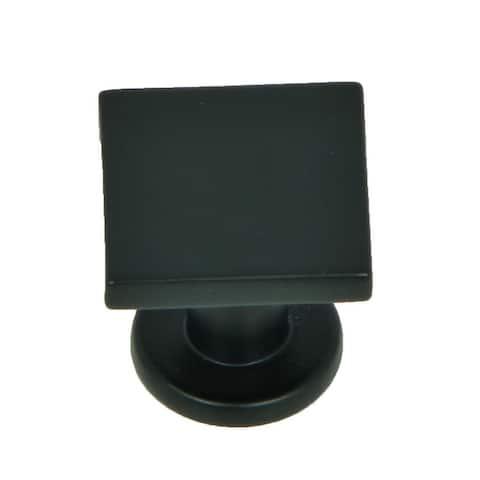 Stone Mill Hardware - Matte Black SoHo Cabinet Knobs (Pack of 5)