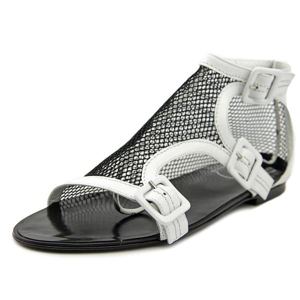 Roger Vivier Sandalo Rete T.O5 Open Toe Canvas Gladiator Sandal