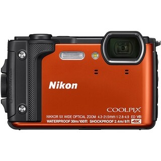 Nikon Coolpix W300 Compact Digital Camera (Orange)