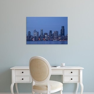 Easy Art Prints John & Lisa Merrill's 'Downtown Seattle' Premium Canvas Art