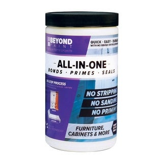 BEYOND PAINT BP02 All-In-One Interior & Exterior Acrylic Paint, Licorice, 1 Quart