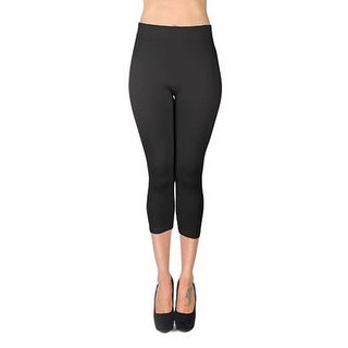 Women's Solid Color Soho Capri Leggings