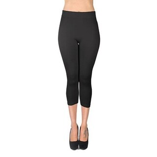 Women's Solid Color Soho Capri Leggings (2 options available)
