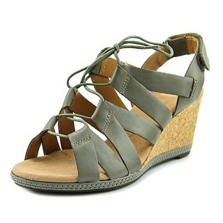 Clarks Helio Mindin Women  Open Toe Leather  Wedge Sandal