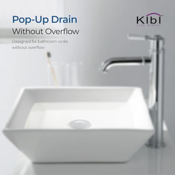 Topstar Bathroom Faucet Vessel Vanity Sink Pop Up Drains Stopper Solid Brass With Overflow Black Color