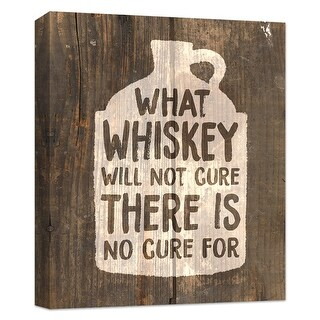 "PTM Images 9-124829  PTM Canvas Collection 10"" x 8"" - ""What Whiskey Cannot Cure, There is No Cure For"" Giclee Liquor & Cocktails"