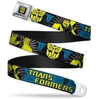 Autobot Logo Full Color Black Yellow Transformers Bumblebee Poses Pop Art Seatbelt Belt