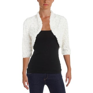 Signature By Robbie Bee Womens Petites Bolero, Shrug Faux Fur Open Front