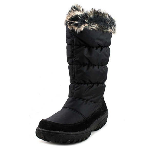 Spring Step Vanish Women Round Toe Canvas Black Winter Boot