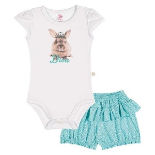 Baby Girl Outfit Bodysuit and Shorts Set Pulla Bulla Sizes 3-12 Months