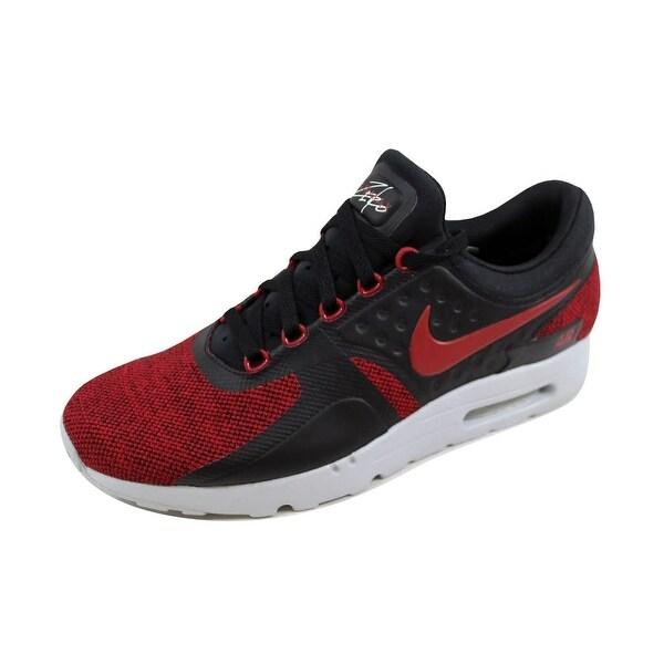 Nike Men's Air Max Zero SE Black/Tough Red-Pure Platinum 918232-002 Size 10