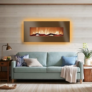 Link to Harrison 34 inch Flat Wallmount Electric Fireplace - 34in Similar Items in Fireplaces