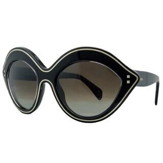 Valentino V689/S 001 Black Almond Shaped Sunglasses