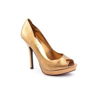 Fergie Hudson Women Open Toe Leather Platform Heel