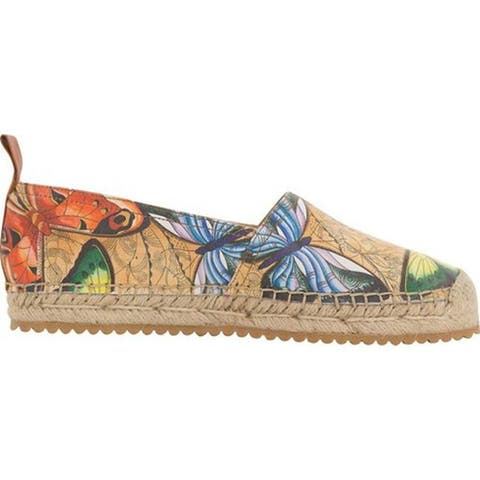 Anuschka Women's Anika Espadrille Loafer Earth Song Printed Leather
