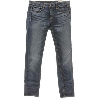 Rag & Bone Womens Dre Boyfriend Jeans Relaxed Slim Fit Whisker Wash