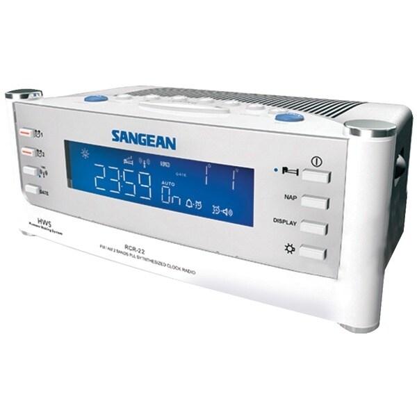 Sangean Rcr22 Am/Fm Atomic Clock Radio With Lcd Display