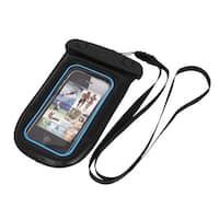 Unique Bargains Waterproof Bag Holder Pouch Case Black Blue for iPhone 6 w Neck Strap