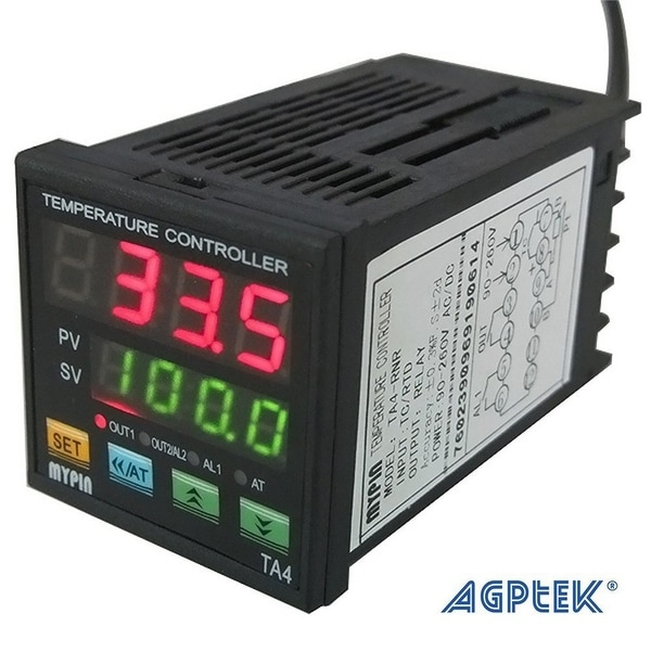 AGPtek Digital Dual Display PID Temperature Controller TA4-SNR+K thermocouple (Alarm Output)