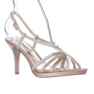 c278a3568e4 Buy Gold Nina Women s Sandals Online at Overstock.com
