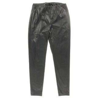 Lauren Ralph Lauren Womens Plus Leather Pants Skinny Pull On