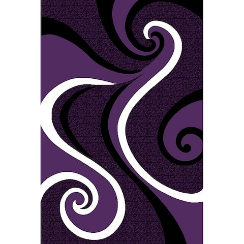 LYKE Home Purple swirl inspired Rug