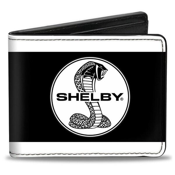 Shelby Tiffany Split Stripe White Black Bi Fold Wallet - One Size Fits most