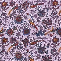 Handmade Birds of Paradise Tapestry Bedspread Coverlet 100% Cotton Lavender Twin Full