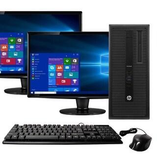HP 600G1 Intel  i5 16GB 2TB HDD Windows 10 Home WiFi Tower PC - Black