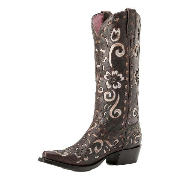 Miss Macie Western Boots Womens Southern Grace Chocolate