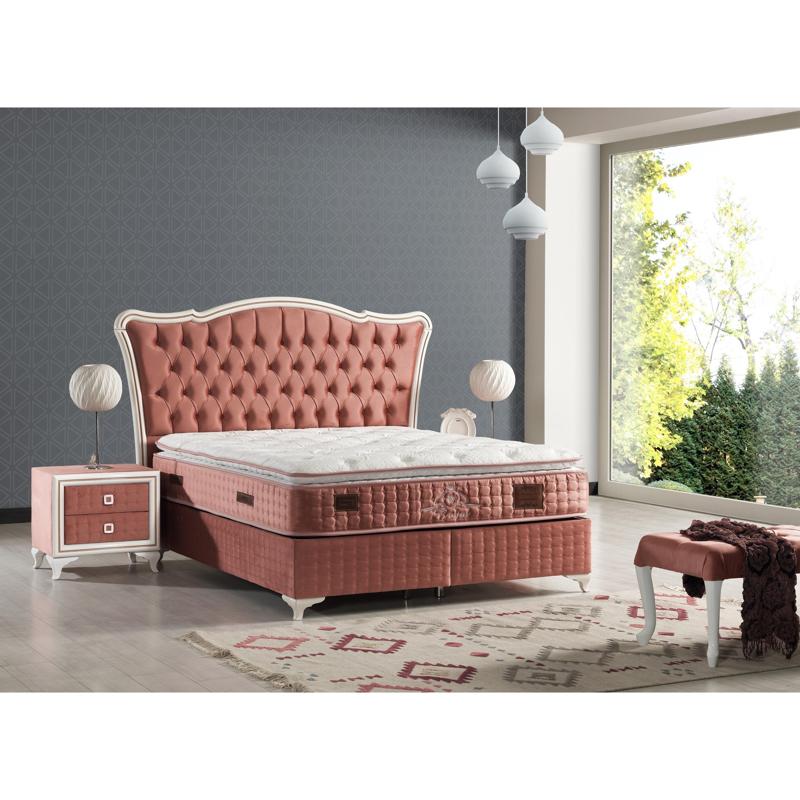 Ragner Modern Bedroom Set King Size 200 200 Storage Bed Mattress Bench On Sale Overstock 32700663