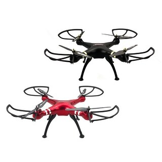 TechComm Hawk RC Quadcopter Drone 6-Axis Gyro 3D Roll Action LED Lights