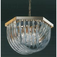 "Classic Lighting 57045 Murano Glass Rods 6 Light 18"" Wide Single Tier Abstract Chandelier - 24k gold plate"