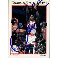 Signed Shackleford Charles Philadelphia 76ers 1991 NBA Hoops Basketball Card autographed