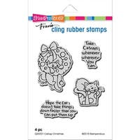 Stampendous Cling Stamp -Catnap Christmas