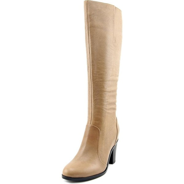 Kenneth Cole NY Avery Women Round Toe Leather Tan Mid Calf Boot