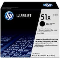 HP 51X High Yield Black Original LaserJet Toner Cartridges (Q7551X)(Single Pack)