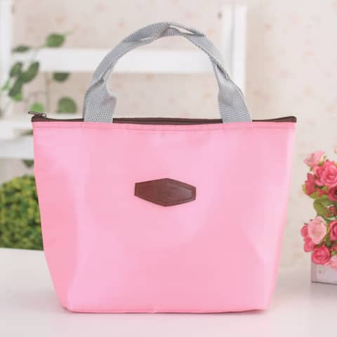 """Travel Portable Insulated Cooler Camping Picnic Lunchbox Storage Bag - 11.8"""" x 3.9"""" x 7.9""""(L*W*H)"""