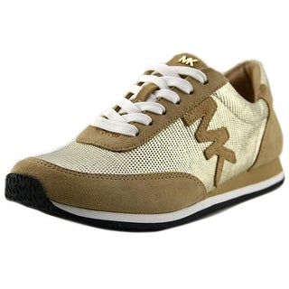 Michael Michael Kors Stanton Trainer Women Suede Tan Fashion Sneakers
