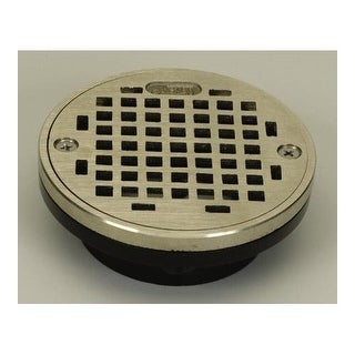 """Proflo PF42820 2"""" or 3"""" PVC Shower Drain with 4"""" Stainless Steel Strainer"""