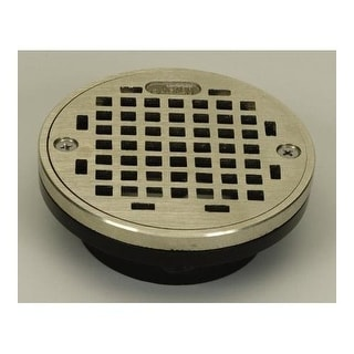 """Proflo PF42874 2"""" or 3"""" PVC Shower Drain with 4"""" Nickel Strainer"""