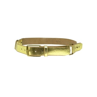 Calvin Klein Women's Metallic Strapped Leather Belt