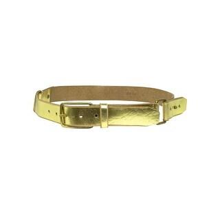 Calvin Klein Women's Metallic Strapped Leather Belt