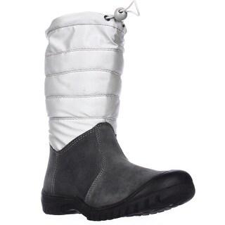 Sporto Ellie Mid Calf Snow Boots, Silver